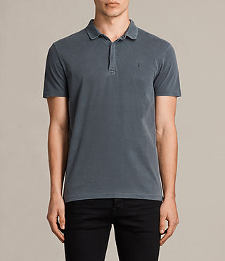 Mens Ossage Polo Shirt (Washed Black) - product_image_alt_text_1
