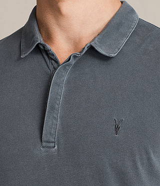 Mens Ossage Polo Shirt (Washed Black) - product_image_alt_text_2