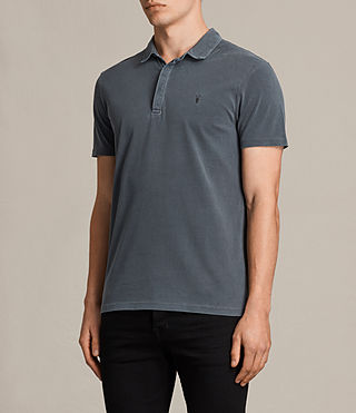 Mens Ossage Polo Shirt (Washed Black) - product_image_alt_text_3