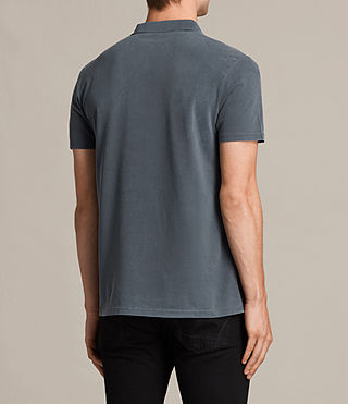 Hommes Ossage Polo Shirt (Washed Black) - product_image_alt_text_4