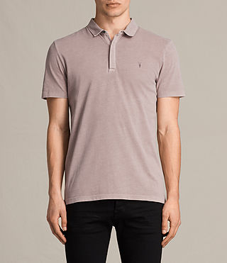 Mens Ossage Polo Shirt (Dusk Pink) - product_image_alt_text_1