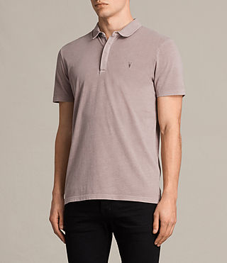 Mens Ossage Polo Shirt (Dusk Pink) - product_image_alt_text_2