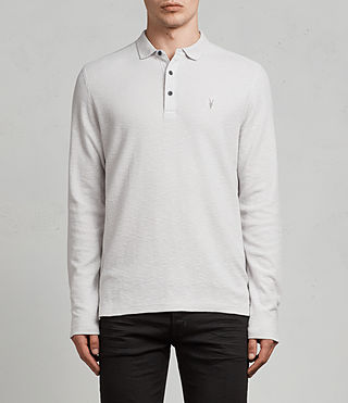 Men's Clash Ls Polo (Light Grey) - Image 1