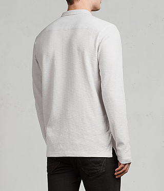 Men's Clash Ls Polo (Light Grey) - Image 4