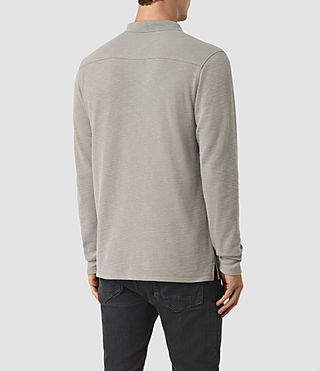 Herren Clash Long Sleeve Polo Shirt (Putty) - product_image_alt_text_3