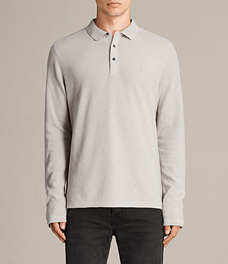 Mens Clash Polo Shirt (Pebble Grey) - product_image_alt_text_1