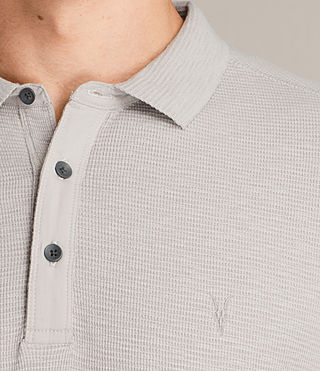 Mens Clash Polo Shirt (Pebble Grey) - product_image_alt_text_2
