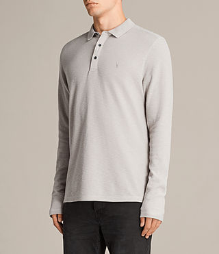 Hombre Clash Polo Shirt (Pebble Grey) - Image 3
