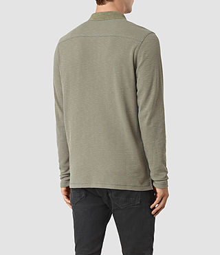 Hommes Clash Long Sleeve Polo Shirt (QUARRY GREY) - product_image_alt_text_3