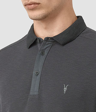 Uomo Clash Long Sleeve Polo Shirt (IRON BLUE) - product_image_alt_text_2