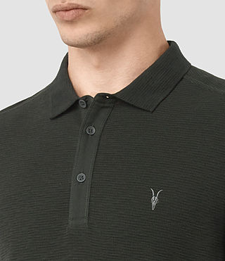 Hommes Clash Long Sleeve Polo Shirt (Shadow Green) - product_image_alt_text_2