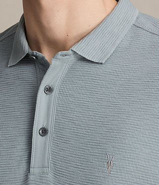 Hombres Clash Long Sleeve Polo Shirt (VISTA BLUE) - product_image_alt_text_2