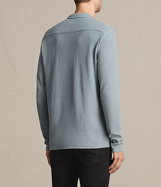 Hombres Clash Long Sleeve Polo Shirt (VISTA BLUE) - product_image_alt_text_4