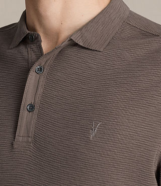 Men's Clash Long Sleeve Polo Shirt (KHAKI TAUPE) - product_image_alt_text_2