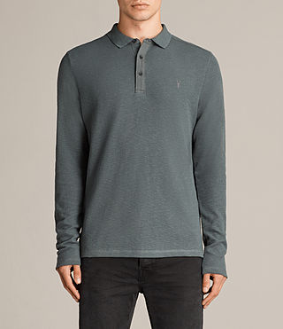 Men's Clash Polo Shirt (FLINT GREEN) - Image 1