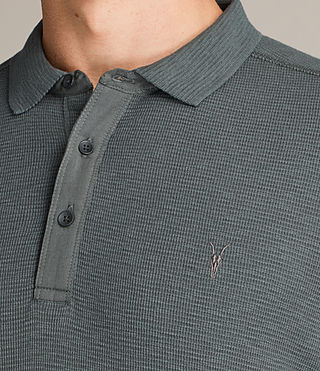 Men's Clash Polo Shirt (FLINT GREEN) - Image 2