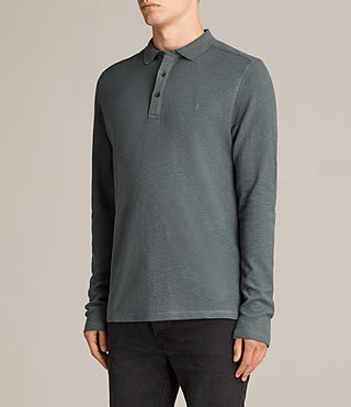 Men's Clash Polo Shirt (FLINT GREEN) - Image 3