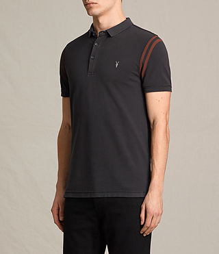 Mens Reform Varsity Polo Shirt (Washed Black) - product_image_alt_text_3