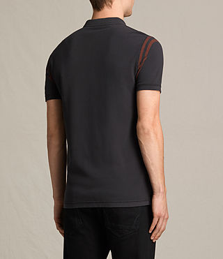 Herren Reform Varsity Polo Shirt (Washed Black) - product_image_alt_text_4