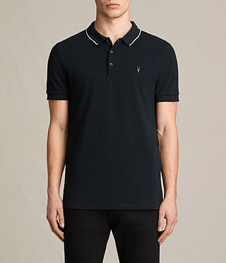 Hombres Houston Polo Shirt (Jet Black/Chalk)