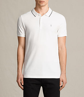 Mens Houston Polo Shirt (CHALK WHITE/BLACK)