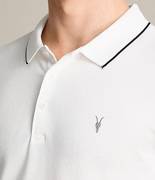 Men's Houston Polo Shirt (CHALK WHITE/BLACK) - product_image_alt_text_2