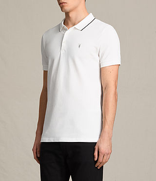 Men's Houston Polo Shirt (CHALK WHITE/BLACK) - product_image_alt_text_3