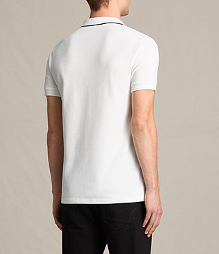 Men's Houston Polo Shirt (CHALK WHITE/BLACK) - product_image_alt_text_4