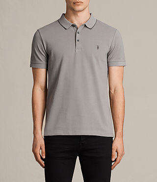 Hommes Houston Polo Shirt (PUTTY BROWN/BLACK) -