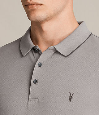 Men's Houston Polo Shirt (PUTTY BROWN/BLACK) - product_image_alt_text_2