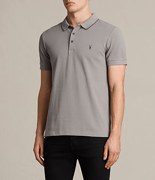 Men's Houston Polo Shirt (PUTTY BROWN/BLACK) - product_image_alt_text_3