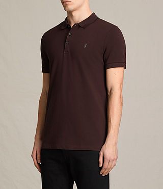 Uomo Houston Polo Shirt (OXBLOOD RED/BALCK) - product_image_alt_text_3