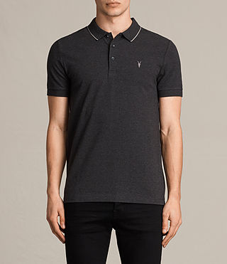 Mens Houston Polo Shirt (CHARCOAL MRL/PUTTY) - product_image_alt_text_1