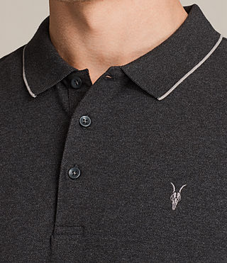 Mens Houston Polo Shirt (CHARCOAL MRL/PUTTY) - product_image_alt_text_2
