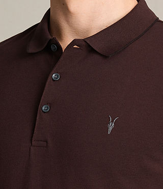 Mens Houston Polo Shirt (OXBLOOD RED/BLACK) - product_image_alt_text_2