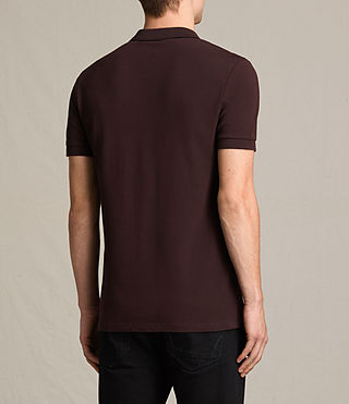 Mens Houston Polo Shirt (OXBLOOD RED/BLACK) - product_image_alt_text_4