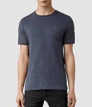 Mens Panel Tonic Crew T-shirt (Blue Marl/Blue) - product_image_alt_text_1