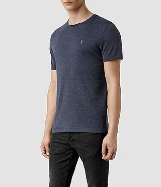 Mens Panel Tonic Crew T-shirt (Blue Marl/Blue) - product_image_alt_text_2