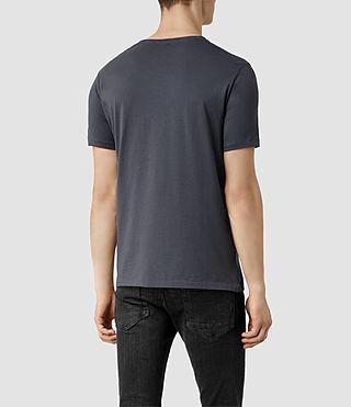 Mens Panel Tonic Crew T-shirt (Blue Marl/Blue) - product_image_alt_text_3