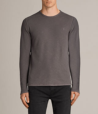 Uomo Clash Long Sleeve Crew T-Shirt (Slate Grey)