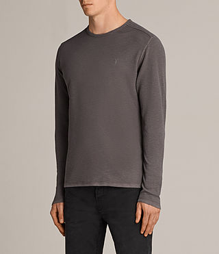 Mens Clash Long Sleeve Crew T-Shirt (Slate Grey) - product_image_alt_text_3