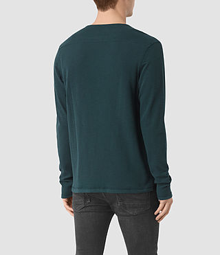Herren Clash Long Sleeve Crew T-Shirt (Petrol Blue) - product_image_alt_text_3