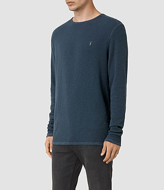 Men's Clash Long Sleeve Crew T-Shirt (Workers Blue) - product_image_alt_text_2