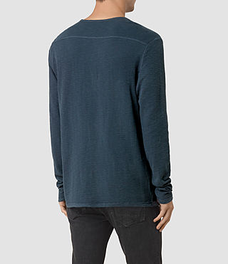 Mens Clash Long Sleeve Crew T-Shirt (Workers Blue) - product_image_alt_text_3