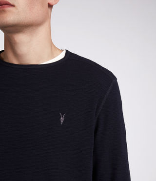 Men's Clash Long Sleeved Crew T-Shirt (INK NAVY) - product_image_alt_text_2