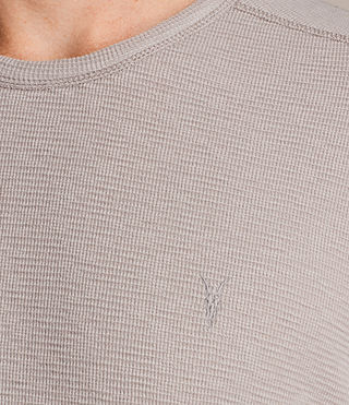 Mens Clash Long Sleeve Crew T-Shirt (Pebble Grey) - product_image_alt_text_2