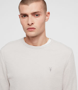 Uomo Clash Long Sleeve Crew T-Shirt (LUNAR GREY) - product_image_alt_text_2