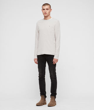 Uomo Clash Long Sleeve Crew T-Shirt (LUNAR GREY) - product_image_alt_text_3