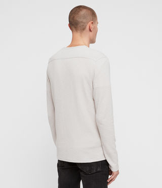 Uomo Clash Long Sleeve Crew T-Shirt (LUNAR GREY) - product_image_alt_text_4