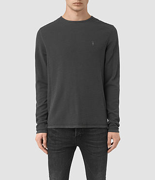 Herren Clash Long Sleeve T-Shirt (IRON BLUE)
